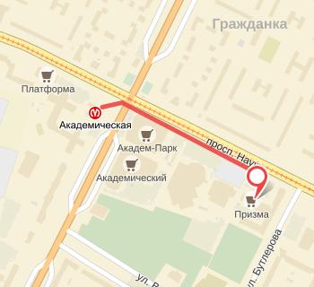 схема проезда ул. Бутлерова 42