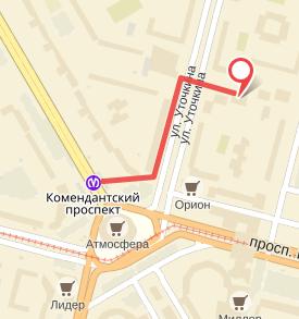 схема проезда ул. Уточкина 3к3